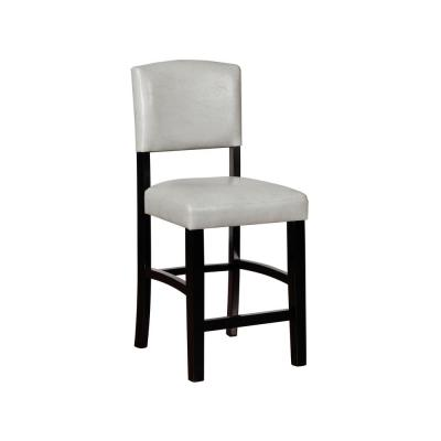 Monaco 24 in. Gray and Black Counter Stool