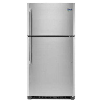 33 in. W 21 cu. ft. Top Freezer Refrigerator in Fingerprint Resistant Stainless Steel