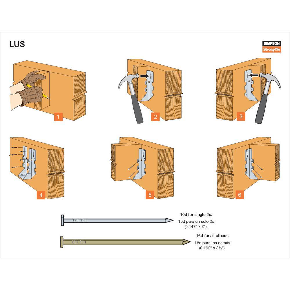 Lot Of 41 LUS28 Joist Hanger 2 x 8 Double Shear