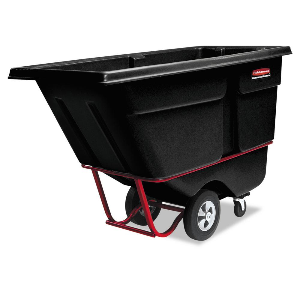 Rubbermaid Commercial Products 1 cu. yd. Standard Duty Tilt Truck, Black