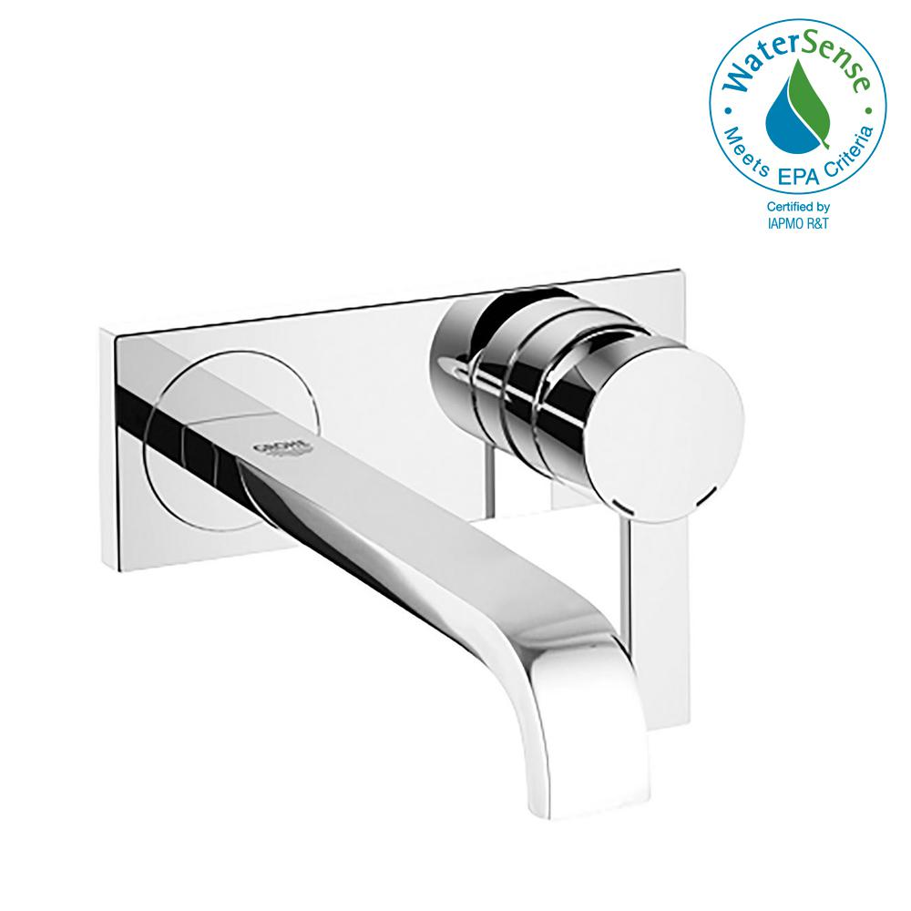Allure 1.2 GPM Single-Handle Wall Mount Bathroom Faucet in StarLight Chrome