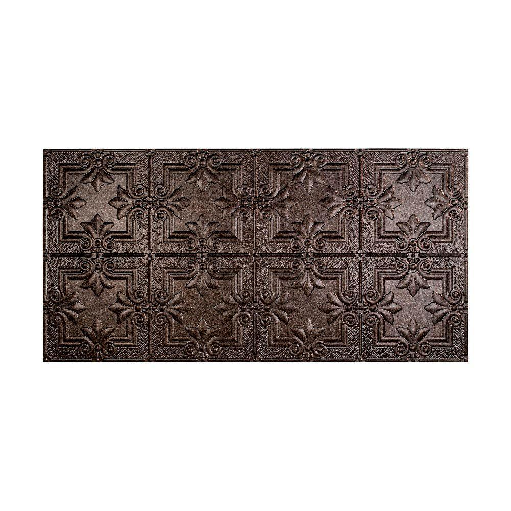 Regalia 2 ft. x 4 ft. Glue-up Ceiling Tile in Smoked