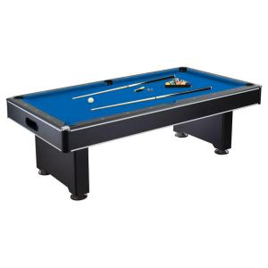Hathaway Hustler 8 ft. Pool Table with Blue Felt, Internal Ball Return System, Easy Assembly, Pool Cues and Chalk by Hathaway