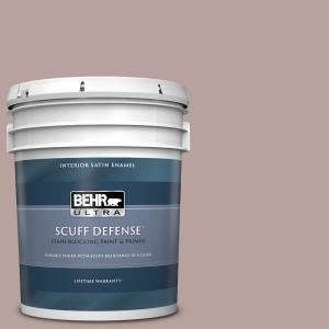 Behr Ultra 5 Gal 720b 4 Desert Echo Extra Durable Satin Enamel Interior Paint And Primer In One 775405 The Home Depot