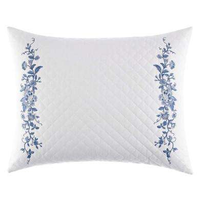 16 in. x 20 in. Charlotte China Blue Throw Pillow