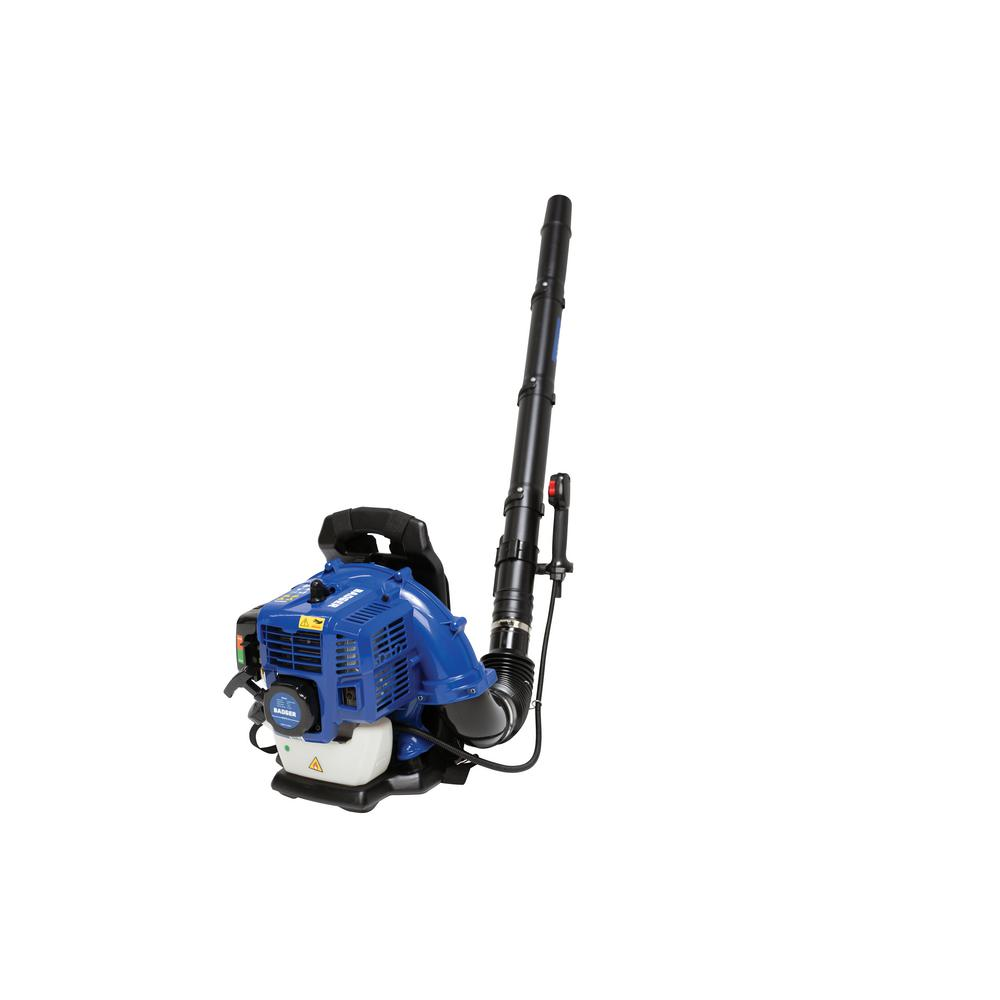 BADGER - Super-Duty 190 MPH 550 CFM 43 cc Gas Full Crank 2-Cycle Back Pack Leaf Blower