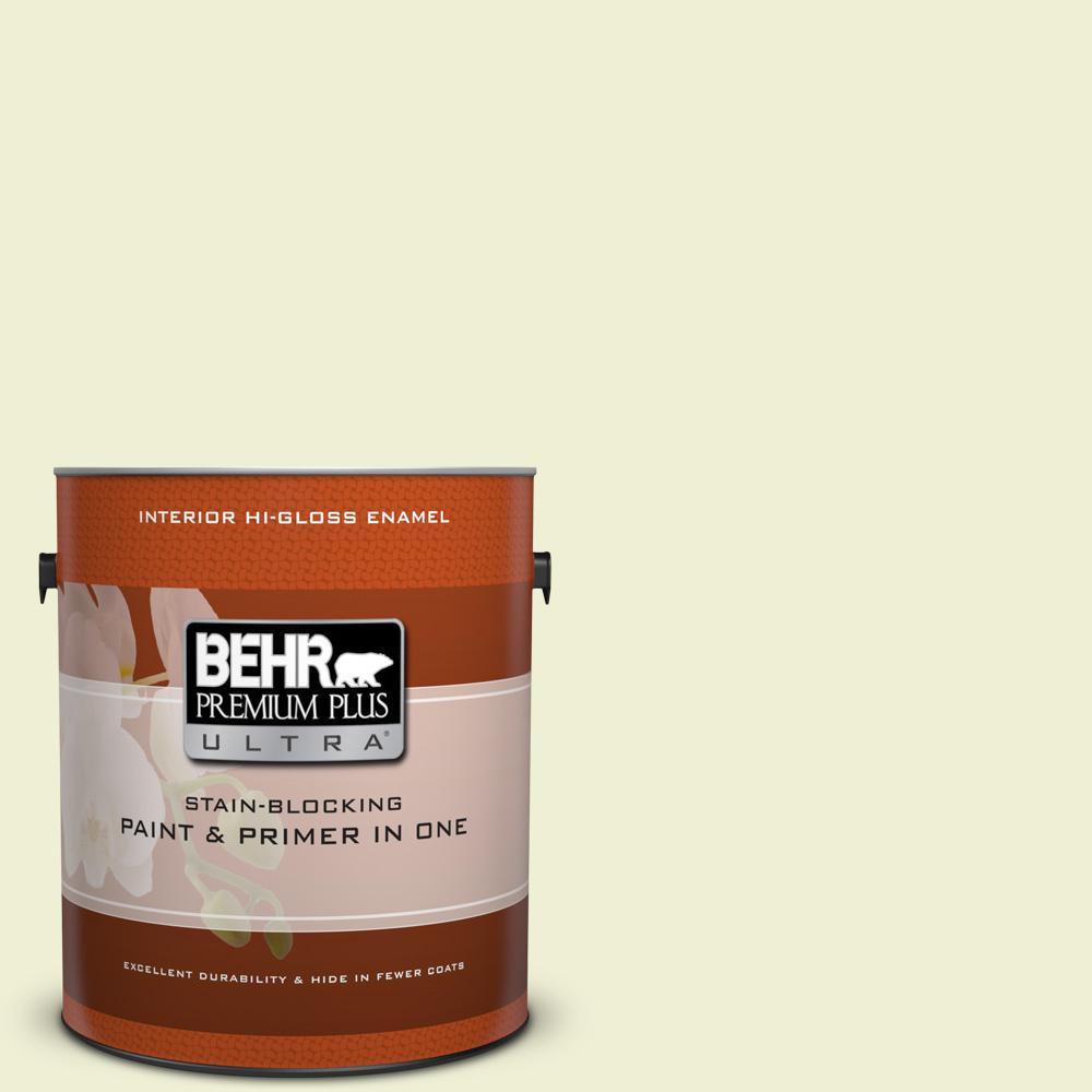 BEHR Premium Plus Ultra 1 gal. #410A-1 Monet Moonrise Hi-Gloss Enamel Interior Paint, Greens