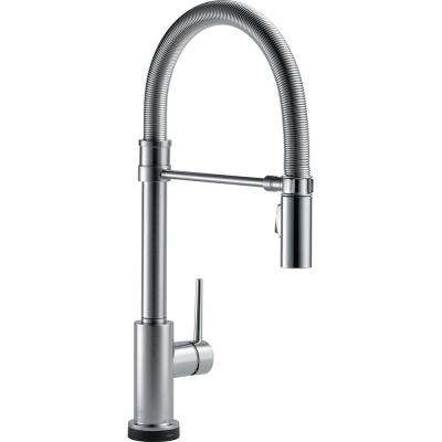 Trinsic Pro Single Handle Pull Down Sprayer Kitchen Faucet With Touch2O  Technology And Spring