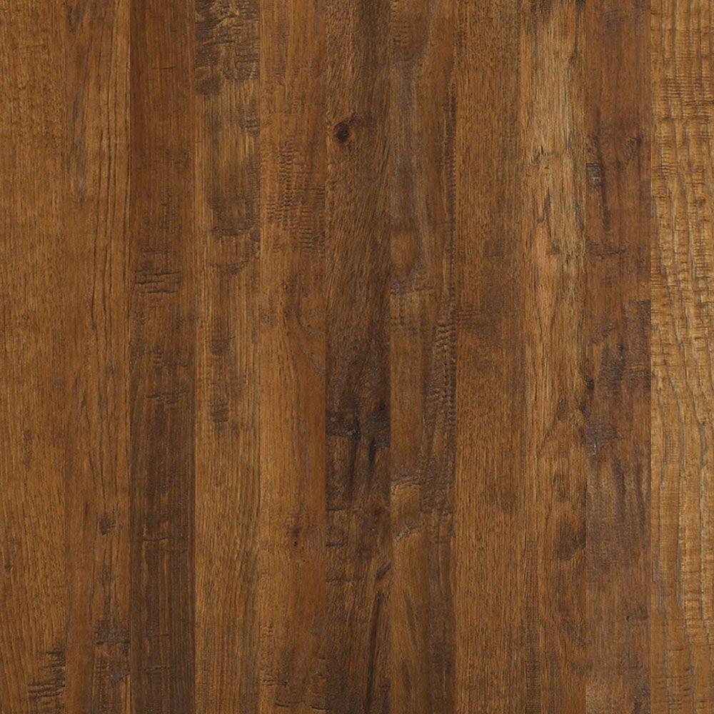 Take Home Sample - Western Hickory Espresso Engineered Hardwood Flooring - 3-1/4 in. x 10 in.