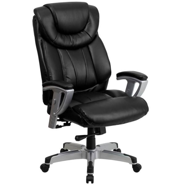 Carnegy Avenue Carnegy Avenue Black Leather Plastic Office/Desk Chair