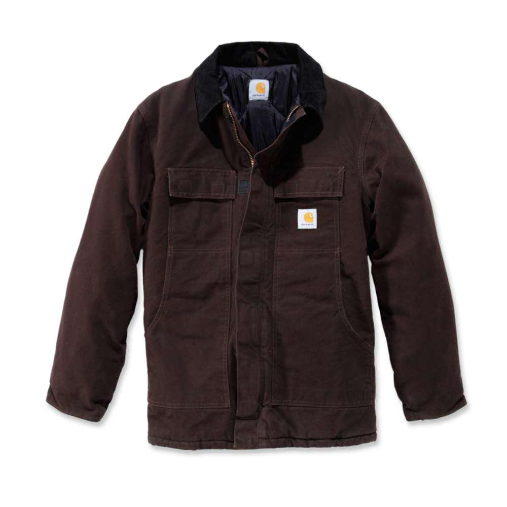 Men's Regular X Large Dark Brown Cotton Heavyweight Coats