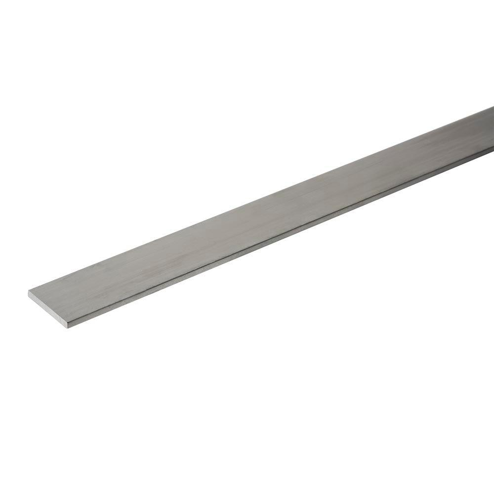 Everbilt 1 in. x 36 in. Aluminum Flat Bar with 1/8 in. Thick