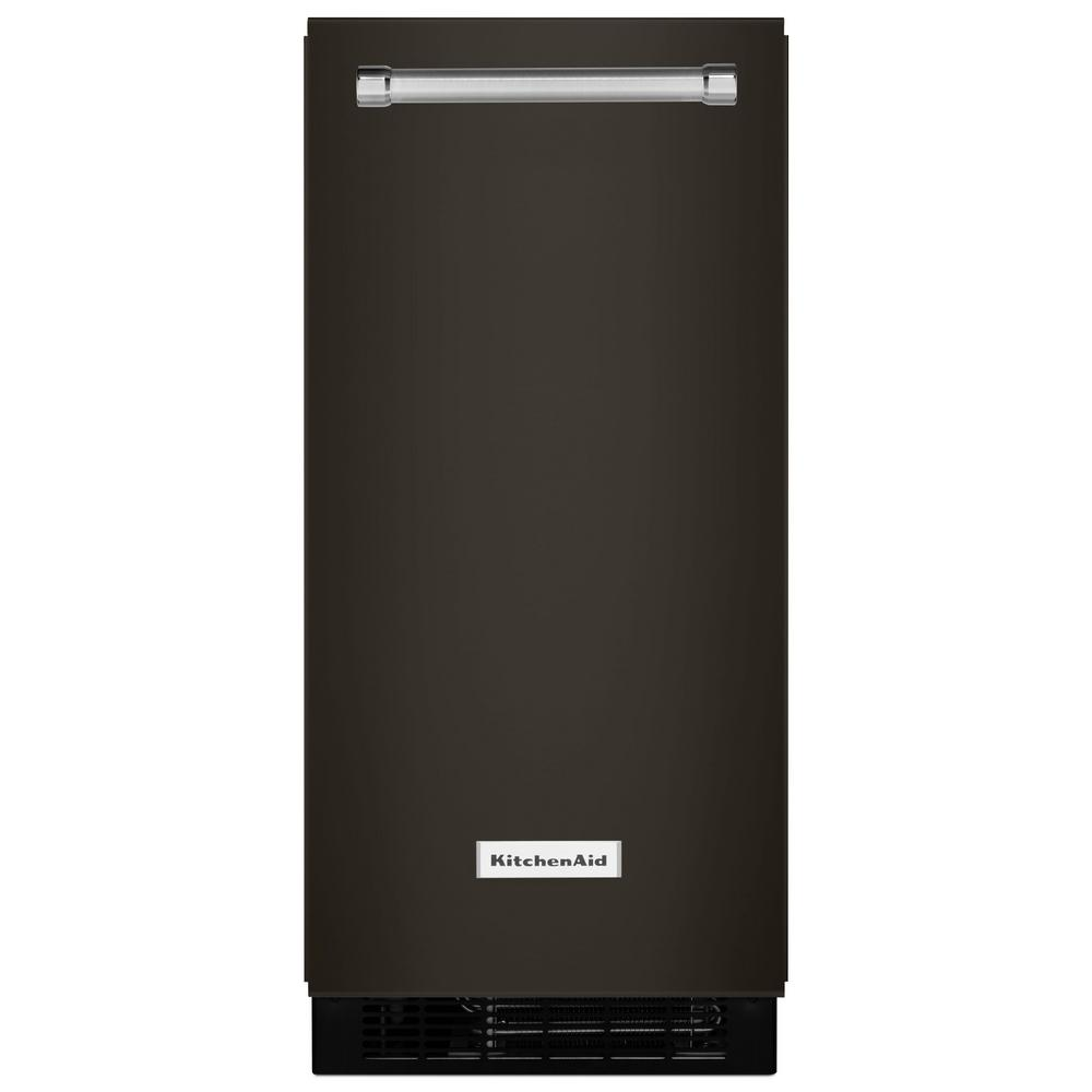 Kitchenaid 15 In 50 Lb Built In Ice Maker In Printshield Black Stainless