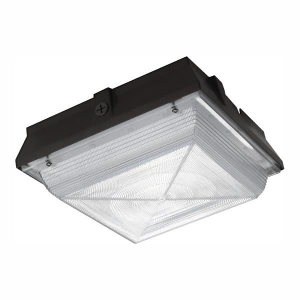 150-Watt Equivalent Integrated Outdoor LED Security Light, 2200 Lumens, Ceiling/Canopy, Outdoor Security Lighting