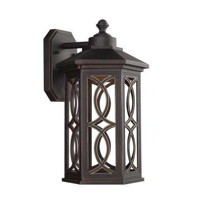 Ormsby 1-Light Antique Bronze Outdoor Wall Mount Lantern