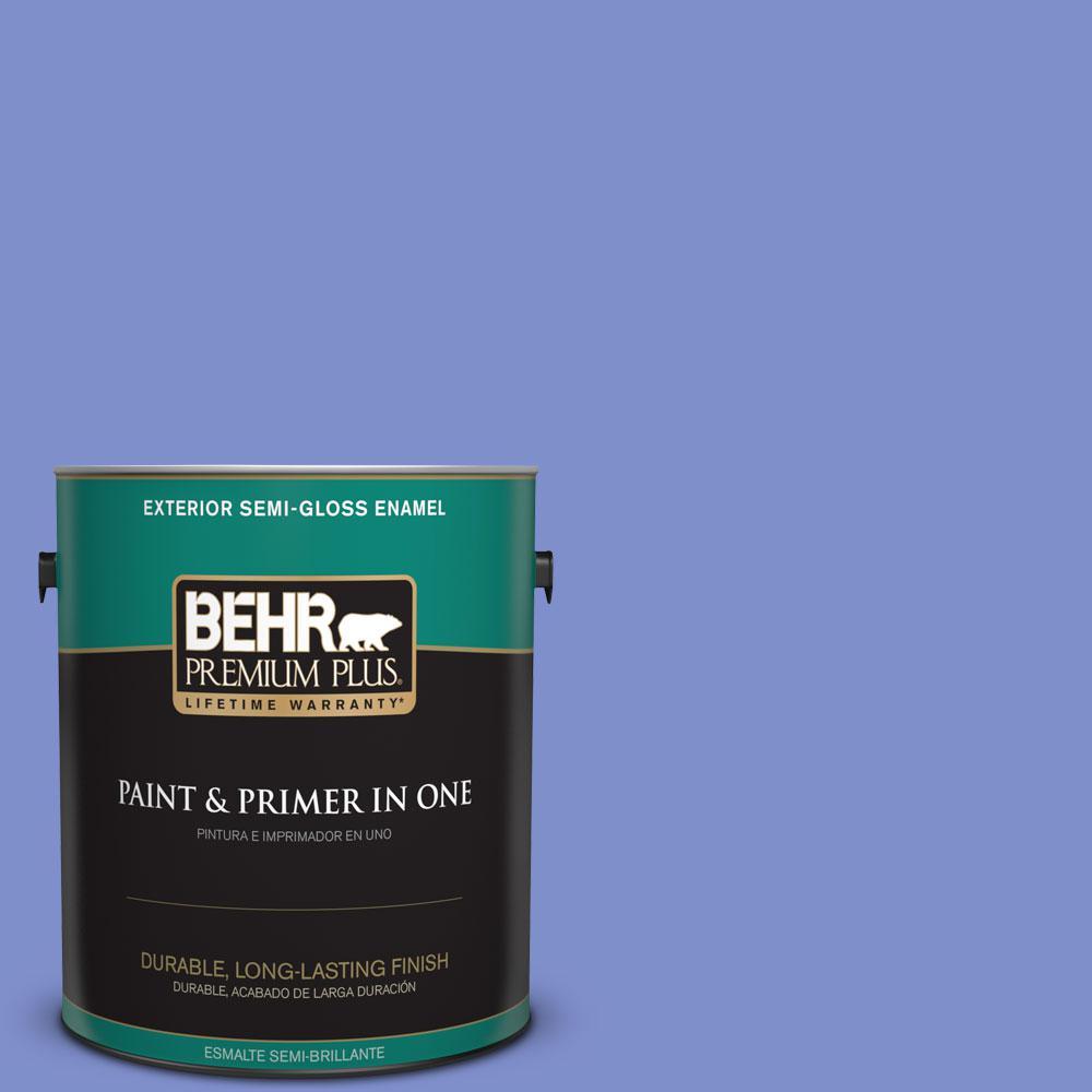 1-gal. #P540-5 Pansy Garden Semi-Gloss Enamel Exterior Paint