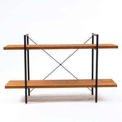 Wood 2-Tier Etagere Bookcase