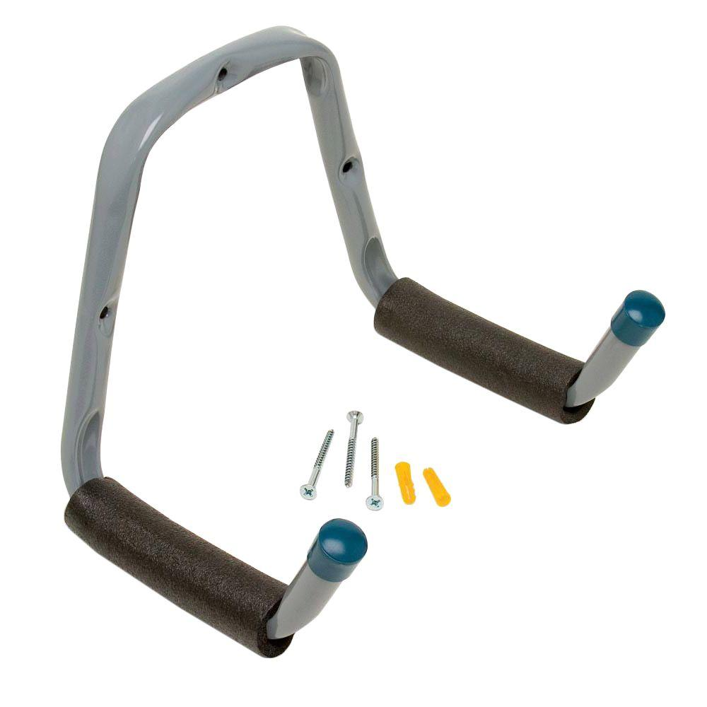 Heavy Duty Double-Arm Padded Hanger in Gray