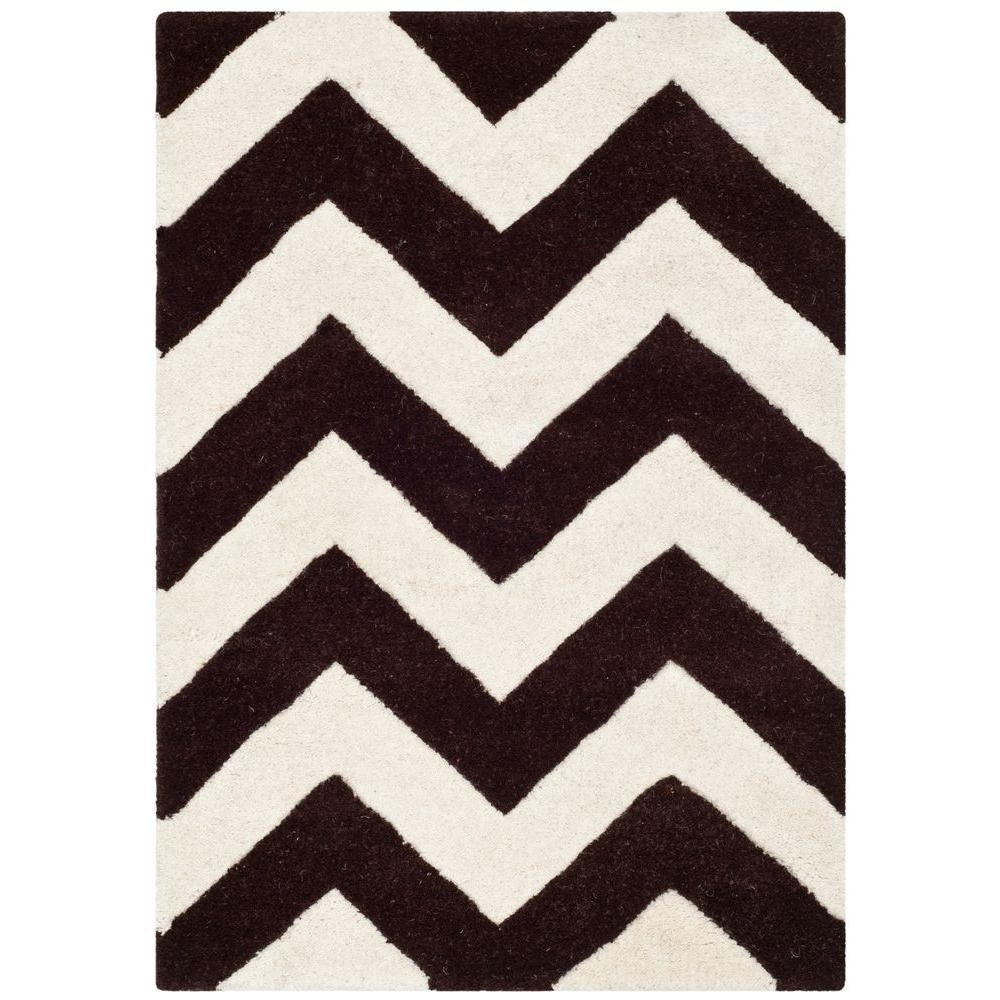 Safavieh Chatham Brown/Ivory 2 ft. x 3 ft. Area Rug