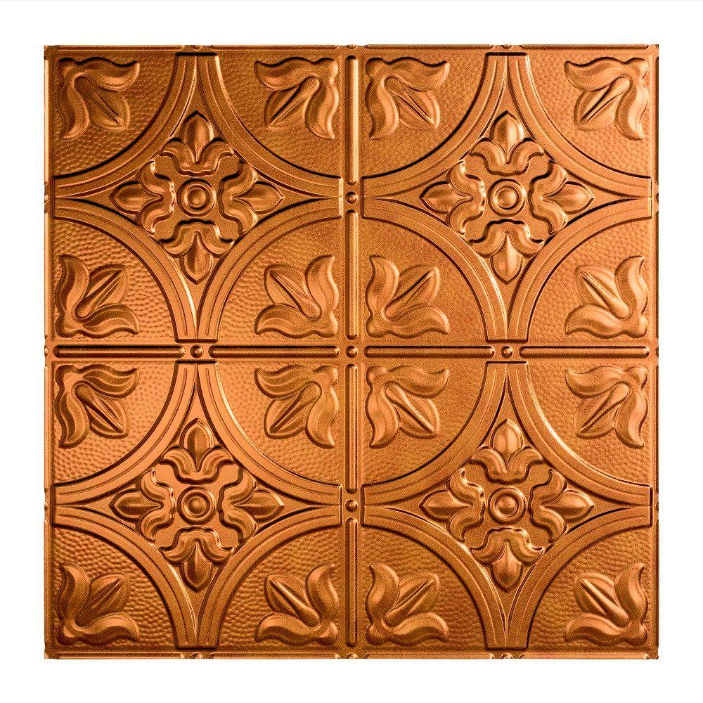 Fasade Traditional 2 - 2 ft. x 2 ft. Lay-in Ceiling Tile in Antique Bronze