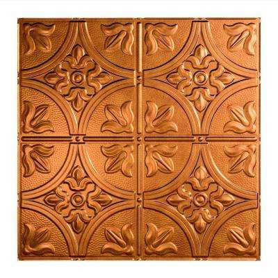 Traditional 2 - 2 ft. x 2 ft. Lay-in Ceiling Tile in Antique Bronze