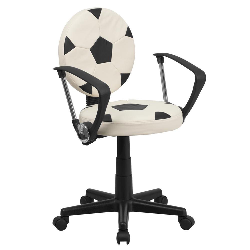 This review is fromSoccer Black White Task Chair with Arms  sc 1 st  Home Depot & Flash Furniture Baseball Cream Task Chair with Arms-BT6178BASEA ...
