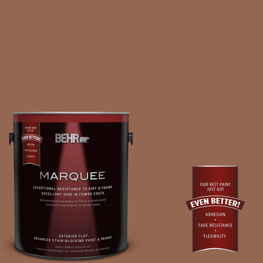 1-gal. #240F-6 Sable Brown Flat Exterior Paint