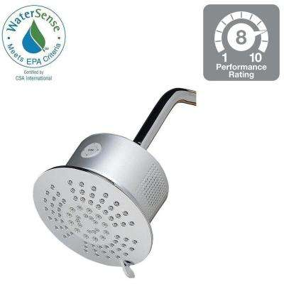 5-Spray Showerhead with Bluetooth Speaker in Chrome