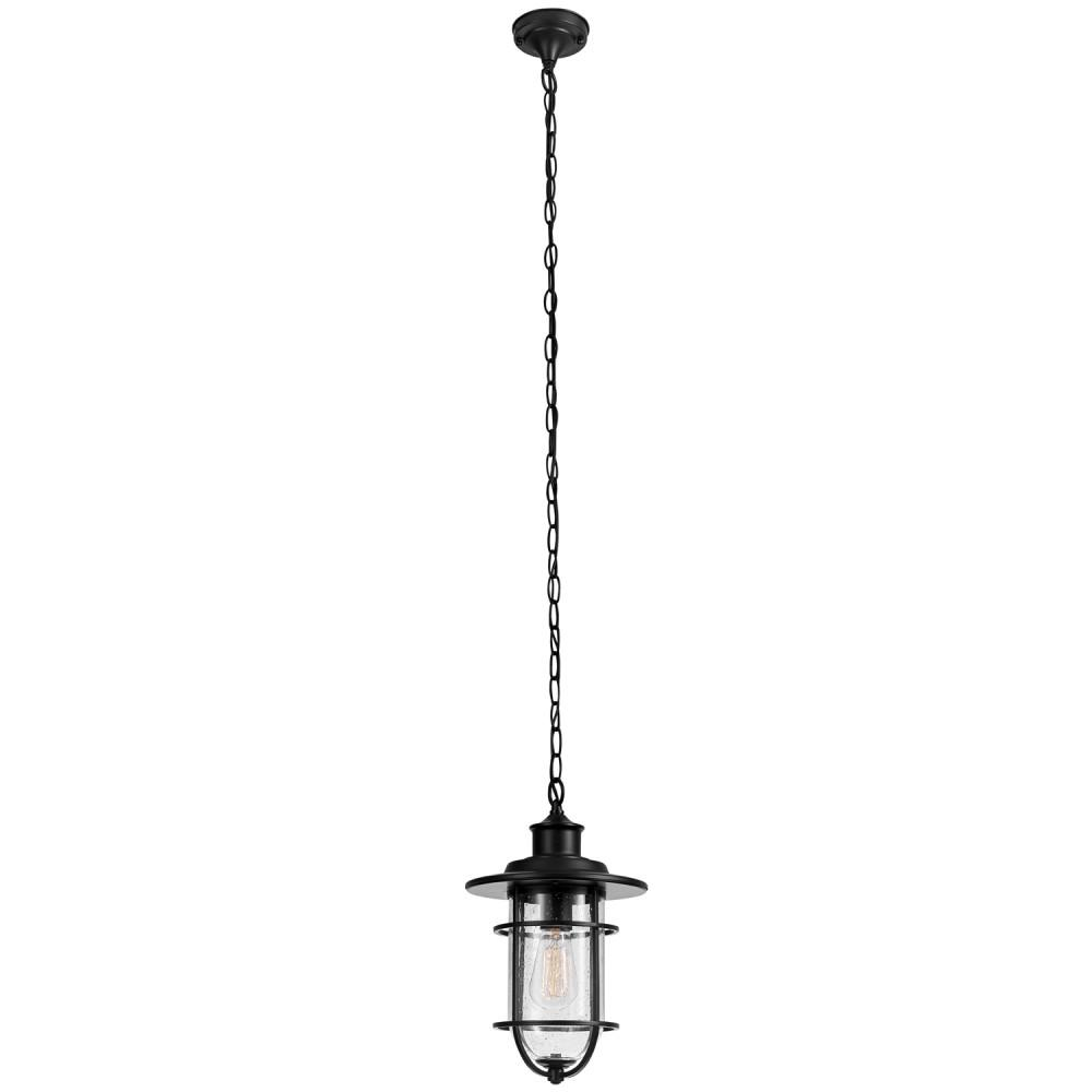 Turner 1-Light Black Outdoor Hanging Pendant