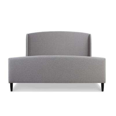 Gia Wingback Light Grey King Bed
