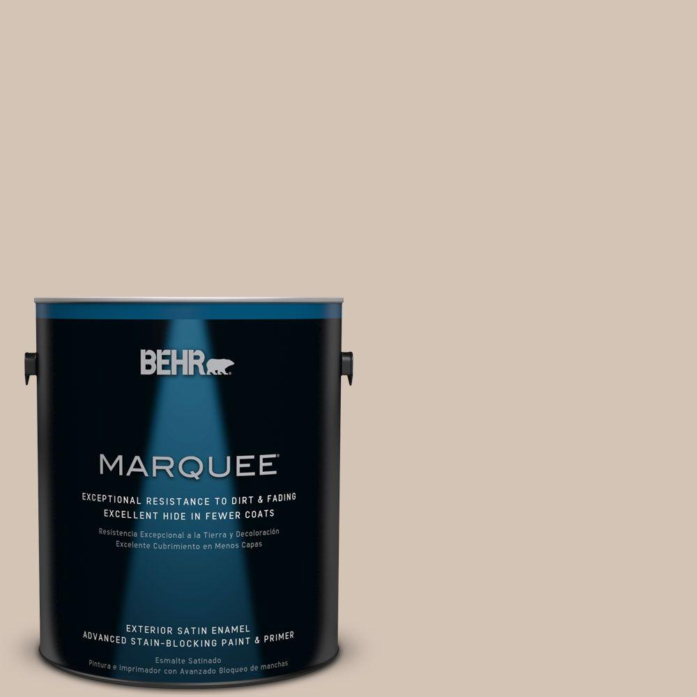 BEHR MARQUEE 1-gal. #BIC-02 Hazy Taupe Semi-Gloss Enamel Exterior Paint