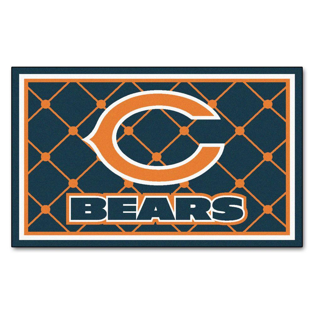 Fanmats Chicago Bears 4 Ft X 6 Ft Area Rug 6567 The