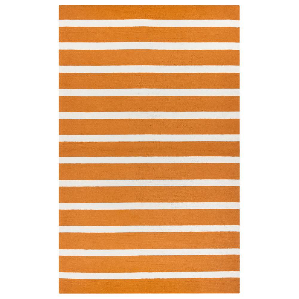 Azzura Hill Orange Striped 9 ft. x 12 ft. Indoor/Outdoor Area Rug