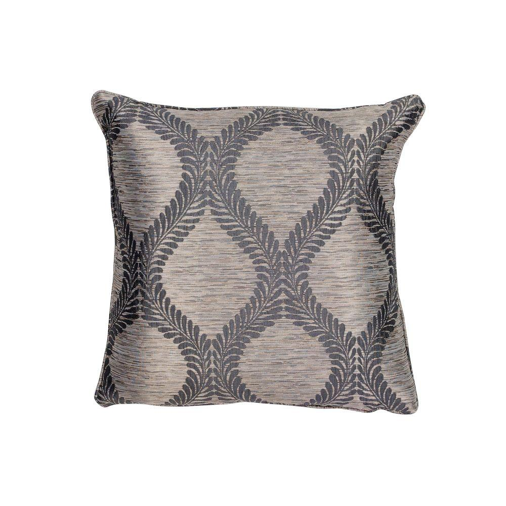 Throw Pillows And Rugs : Kas Rugs Bordeaux Grey Decorative Pillow-PILL24118SQ - The Home Depot
