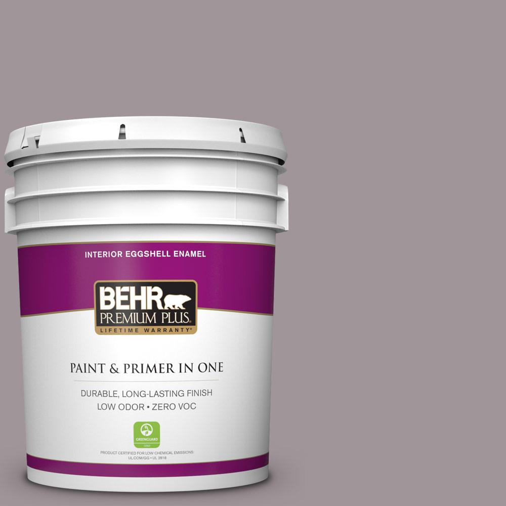 5 gal. #PPU17-13 Heather Plume Zero VOC Eggshell Enamel Interior Paint