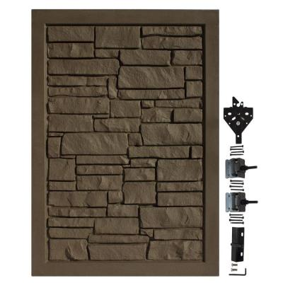 4 ft. W x 6 ft. H Ecostone Dark Brown Composite Privacy Fence Gate