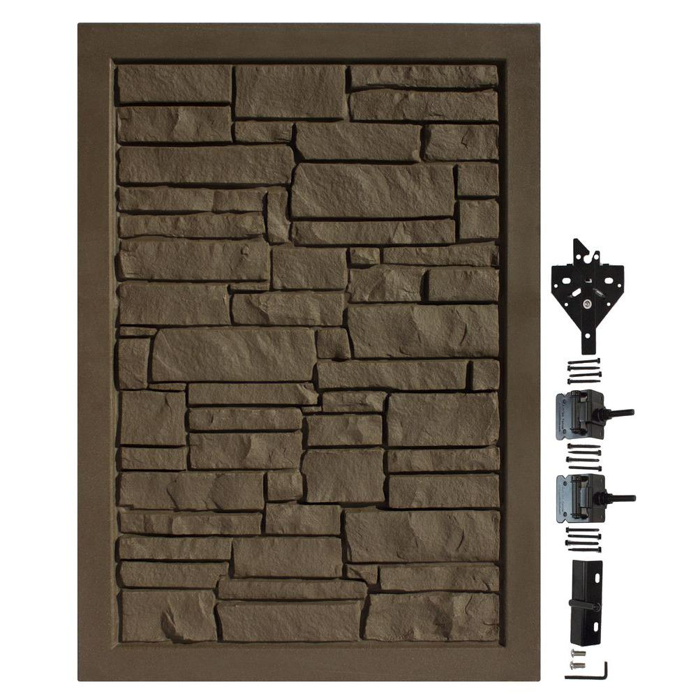 4 ft. W x 6 ft. H Ecostone Dark Brown Composite