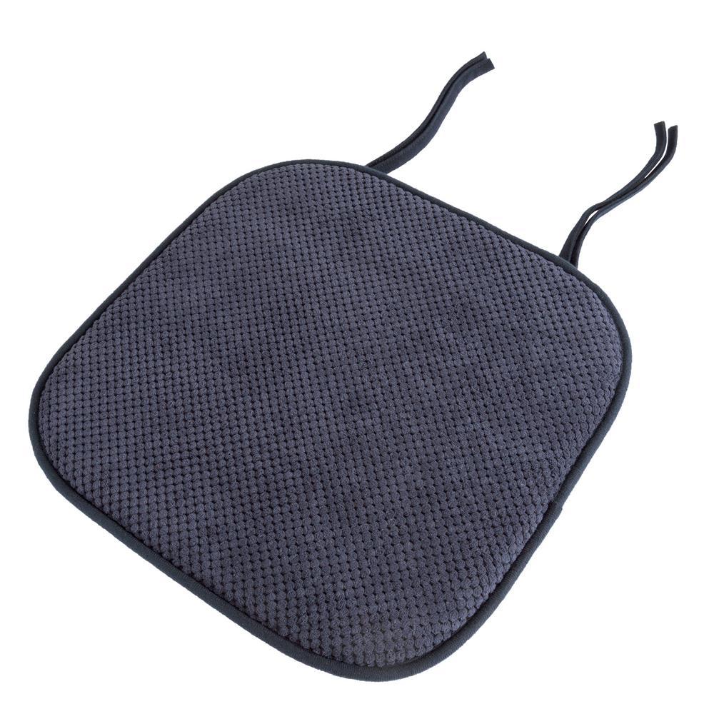 16 in. x 16 in. Navy Memory Foam Chair Pad