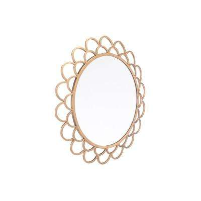 Rani Circular Gold Small Wall Mirror