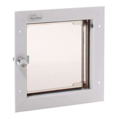 6-1/2 in. x 7-1/4 in. Door Mount Small White for Cat or Small Dog Door