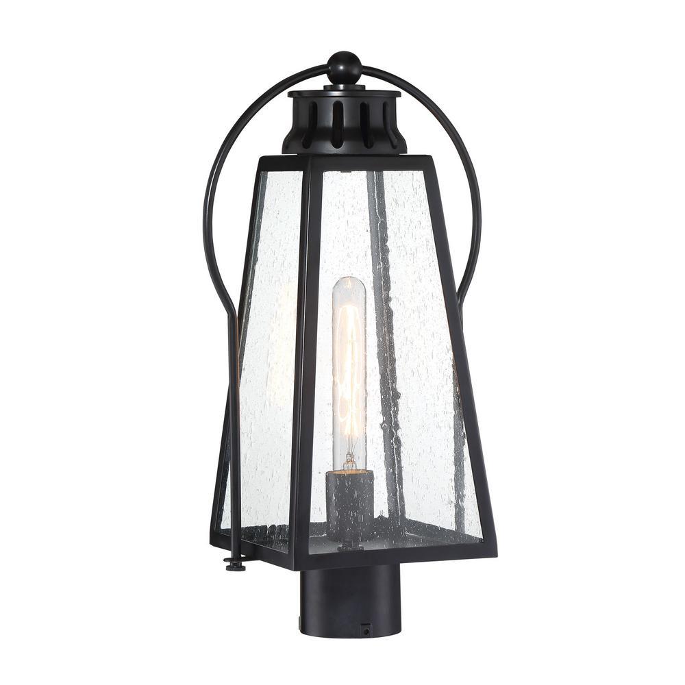 Halder Bridge 1-Light Sand Black Outdoor Post Lantern