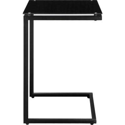 Ridley Black Glass Top C Table