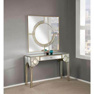 Hanne Silver and Mirrored Console Table