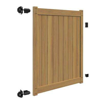5 ft. W x 6 ft. H Washington Cypress Vinyl Un-Assembled Fence Gate