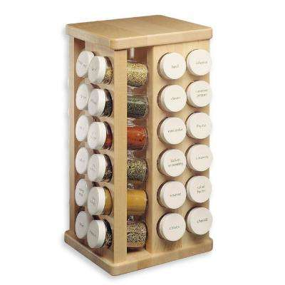 48-Bottles Sugar Maple Wood Spice Carousel