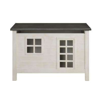 Doll Cottage Weathered White and Washed Gray Youth Chest