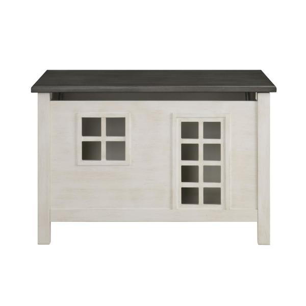 Acme Furniture Doll Cottage Weathered White and Washed Gray Youth Chest