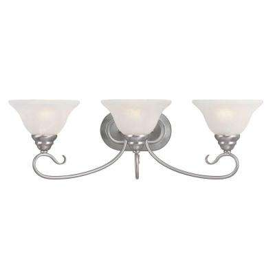 Providence 3-Light Brushed Nickel Incandescent Bath Vanity Light