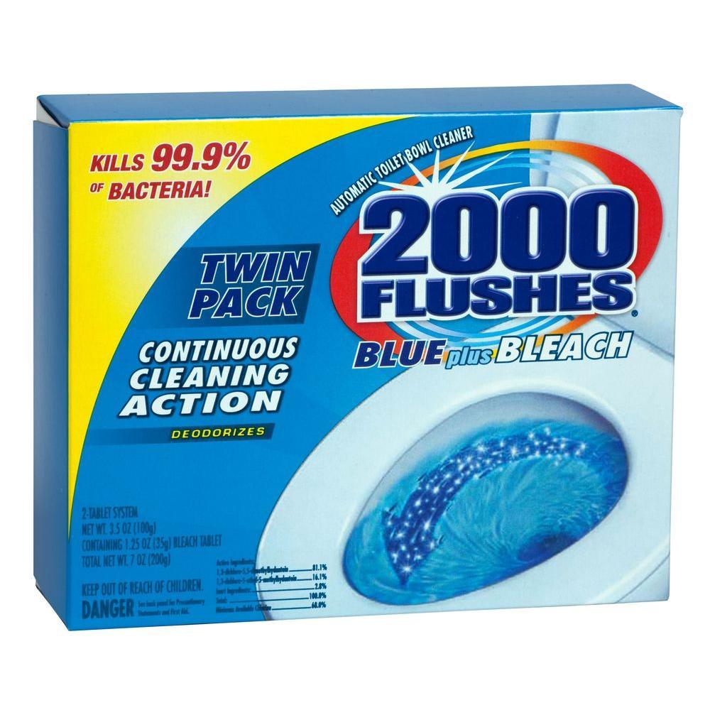 2000 Flushes 2.50 oz. Blue Plus Bleach Toilet Cleaner (2-Pack)