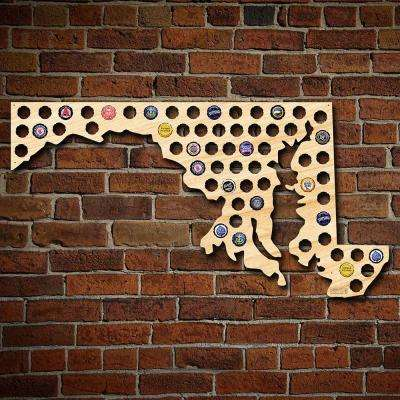 """""""Maryland Beer Cap Map"""" Giant XL Wall Decor"""